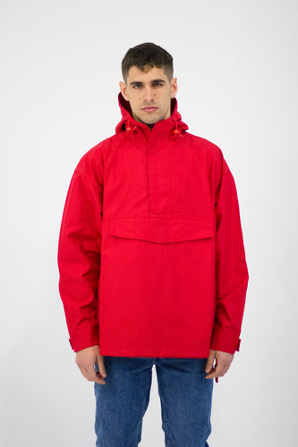 Red Overhead Smock Jacket