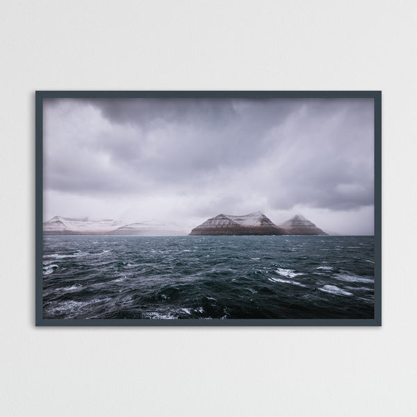 Dark and Stormy Day at Sea, Faroe Islands | Photography Print by Northlandscapes