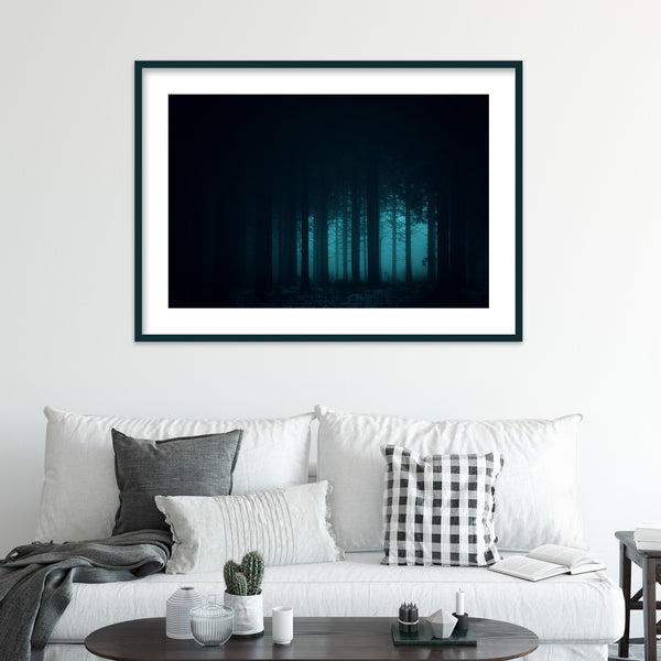Dark and Mysterious Forest | Wall Art Print by Jan Erik Waider