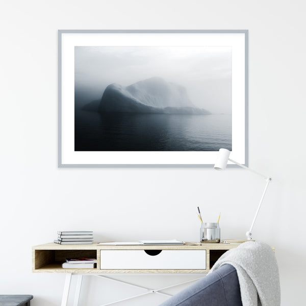 Soft Light over Disko Bay in Greenland with Iceberg | Wall Art Print by Jan Erik Waider