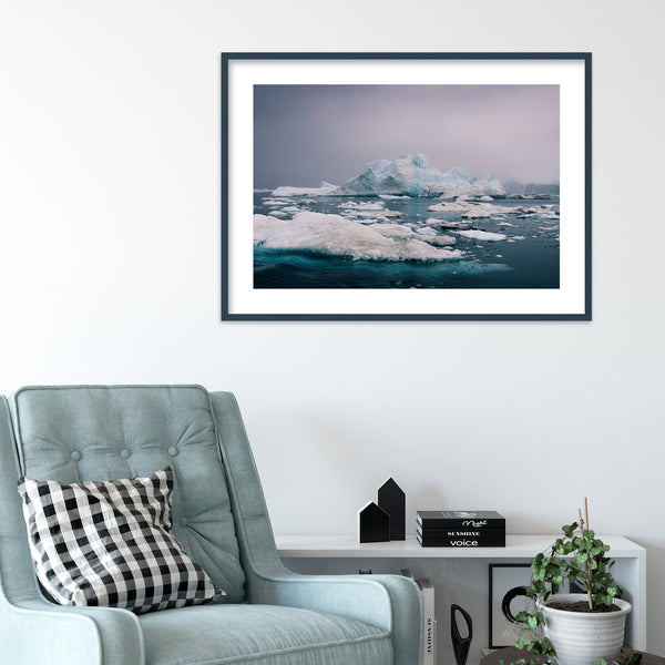 Evening Light over the Disko Bay in Greenland | Wall Art Print by Jan Erik Waider