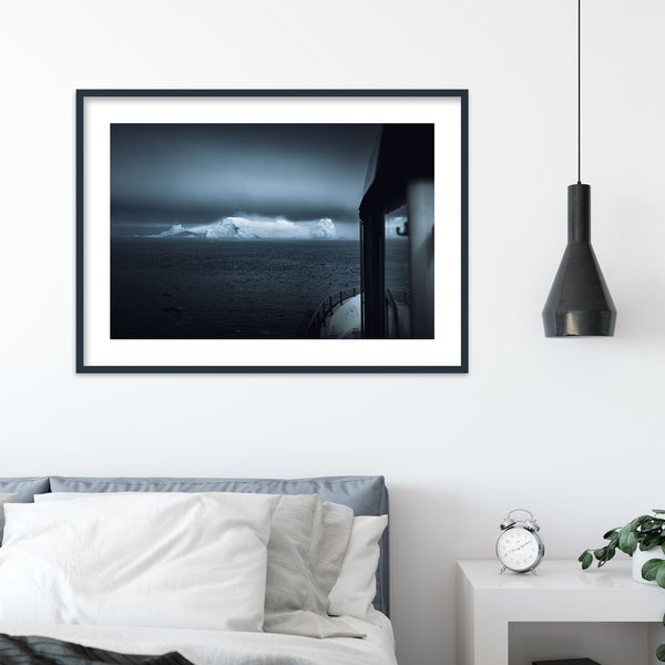 Boat in the Disko Bay of Greenland | Wall Art Print by Jan Erik Waider