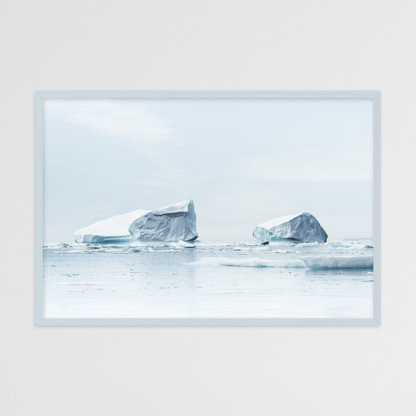 Minimalist Icebergs in Greenland | Photography Print by Northlandscapes