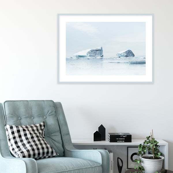 Minimalist Icebergs in Greenland | Wall Art Print by Jan Erik Waider
