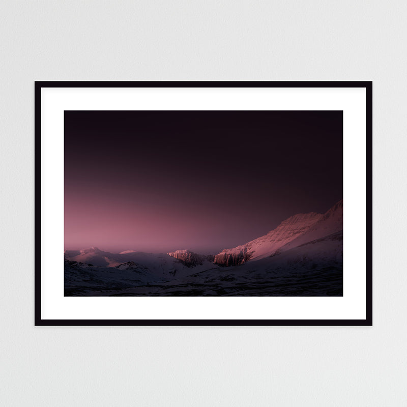 Mountain Range in Red Winter Light | Framed Photo Print by Jan Erik Waider