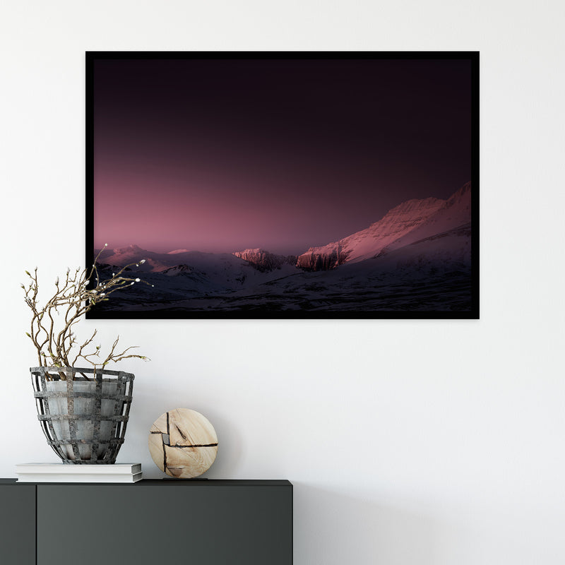 Mountain Range in Red Winter Light | Fine Art Photography Print by Northlandscapes