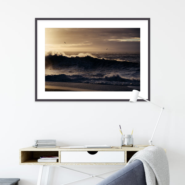 Winter Sunrise over Reynisfjara Beach | Wall Art Print by Jan Erik Waider