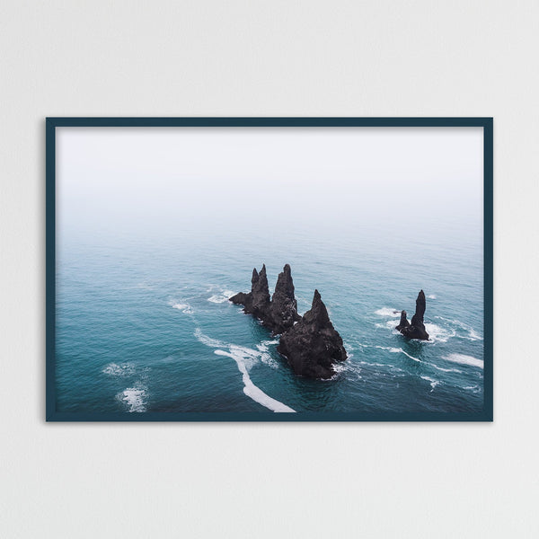 Reynisdrangar Basalt Sea Stacks in Iceland | Photography Print by Northlandscapes