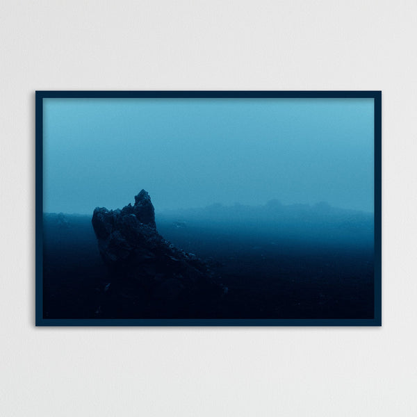 Surreal Blue Light over Desert Landscape in Iceland | Photography Print by Northlandscapes