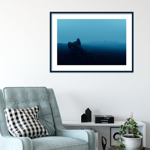 Surreal Blue Light over Desert Landscape in Iceland | Wall Art Print by Jan Erik Waider