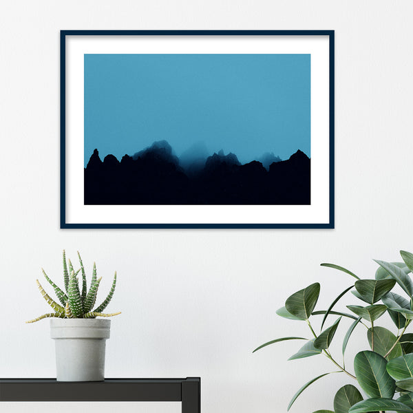 Blue Fog over Rocks in Iceland | Wall Art Print by Jan Erik Waider
