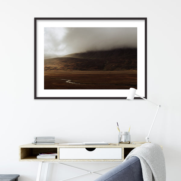 Dramatic Autumn Light over Valley in Iceland | Wall Art Print by Jan Erik Waider