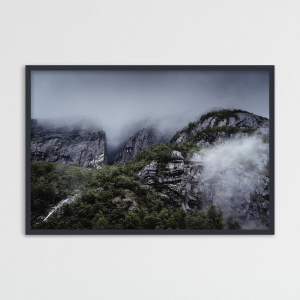 Gloomy Mountains of Eidfjord, Norway | Photography Print by Northlandscapes