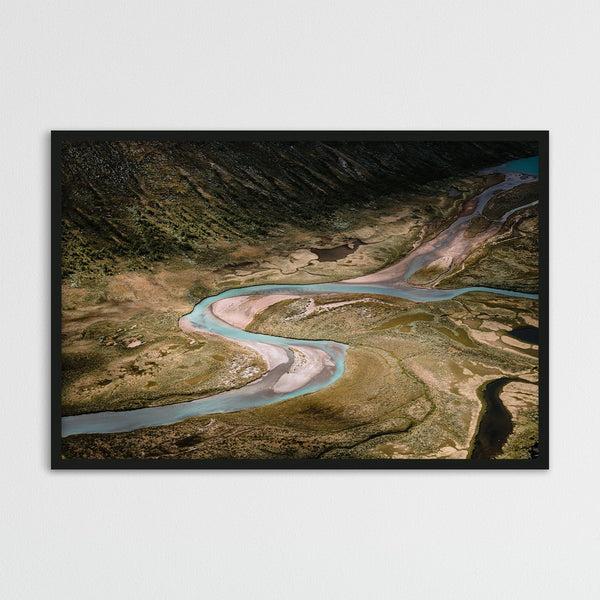 Aerial View of River in Jotunheimen National Park | Photography Print by Northlandscapes