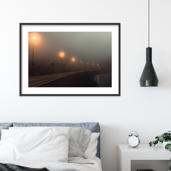 Foggy Mountain Pass in Norway | Wall Art Print by Jan Erik Waider