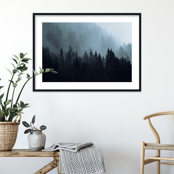 Dark Autumn Forest of Scandinavia | Wall Art Print by Jan Erik Waider