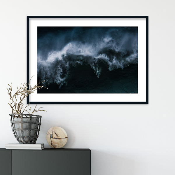 Dramatic Waves of Nazaré in Portugal | Wall Art Print by Jan Erik Waider