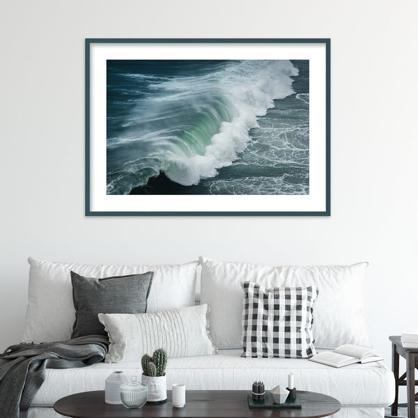 Huge Waves of Nazaré, Portugal | Wall Art Print by Jan Erik Waider
