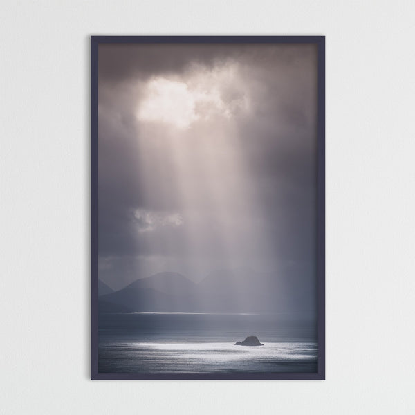 Sunbeams over the Isle of Skye in Scotland | Photography Print by Northlandscapes