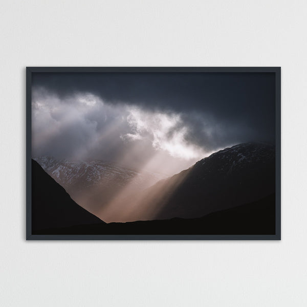 Sun Breaking through Clouds in Scotland | Photography Print by Northlandscapes