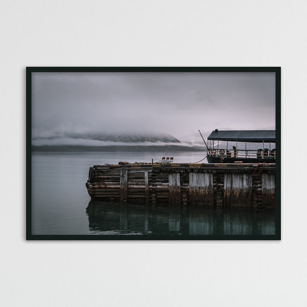 The Harbor of Pyramiden on Svalbard | Photography Print by Northlandscapes