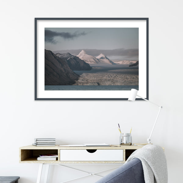 Snowy Mountain Peaks of Svalbard | Wall Art Print by Jan Erik Waider