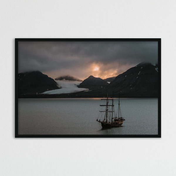 Warm Evening Light over Kongsfjord, Svalbard | Photography Print by Northlandscapes