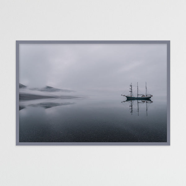 Sailing Ship in Silent Waters of Svalbard | Photography Print by Northlandscapes