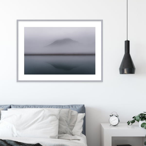 Minimalist Ocean and Mountain Scene | Wall Art Print by Jan Erik Waider