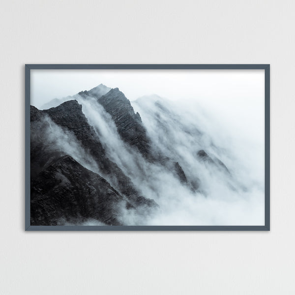 Clouds over Mountain in Svalbard | Photography Print by Northlandscapes