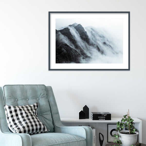 Clouds over Mountain in Svalbard | Wall Art Print by Jan Erik Waider