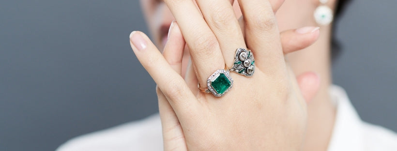 Art Deco rings and jewelry