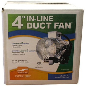 SUNCOURT 1 SPEED IN-DUCT FAN 65 CFM 4""