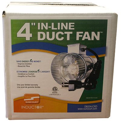 SUNCOURT 1 SPEED IN-DUCT FAN 65 CFM 4