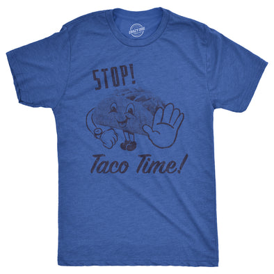 Mens Stop Taco Time Tshirt Funny Cinco De Mayo Mexican Food Tee For Guys