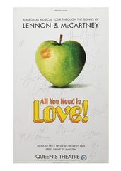 All You Need Is Love (Apple)  - Signed Poster