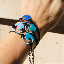 Load image into Gallery viewer, Royal Blue Enamel Mini Wave Bracelet - Seaside Harmony Jewelry