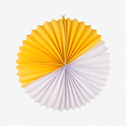 Paper lantern - White and yellow
