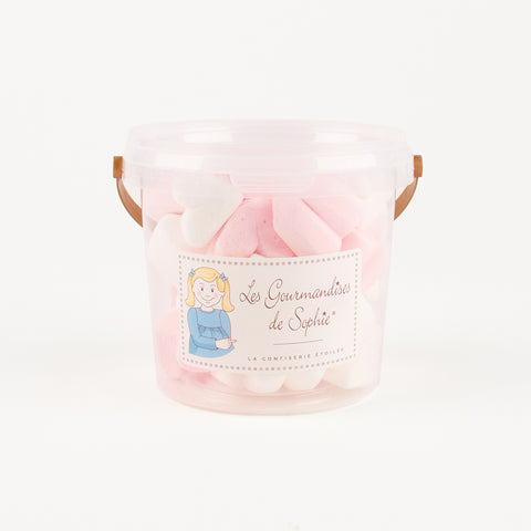 1 bucket of heart marshmallows