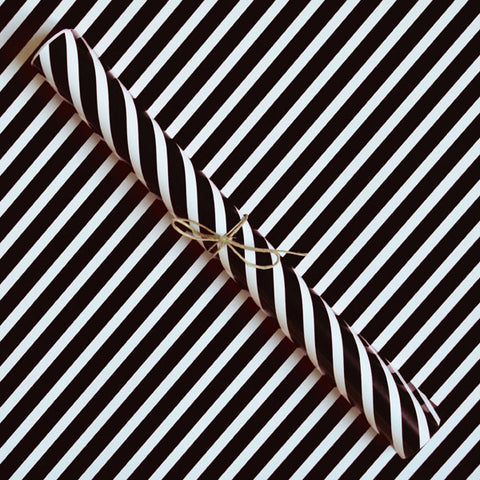 8 placemats - Black stripes