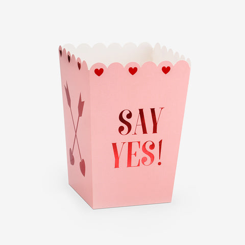 6 popcorn treat boxes - Say Yes