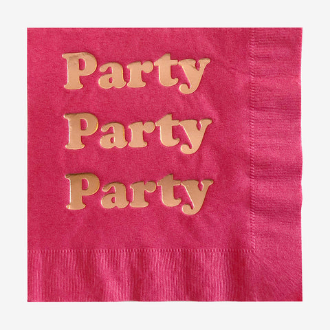 20 napkins - Fuchsia Party