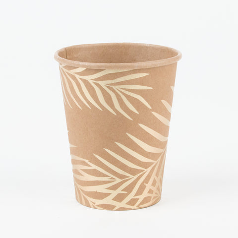 8 cups - Kraft golden palm leaves