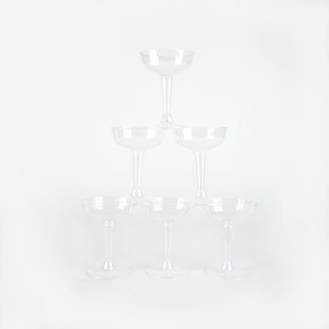 6 cocktail glasses