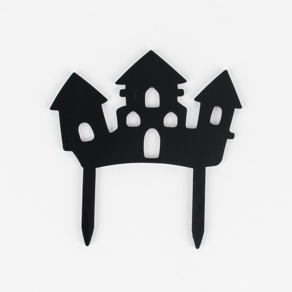 Haunted castle cake topper