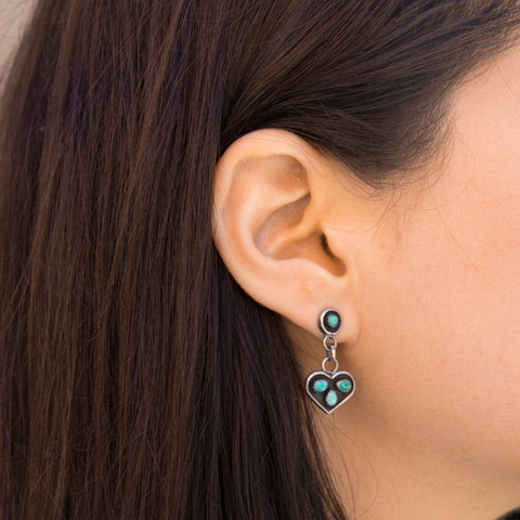 Zuni Heart Earrings