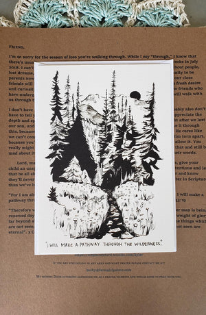 Pathway through the wilderness (loss of baby) - *letter and card only