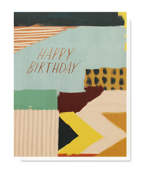 abstract birthday card