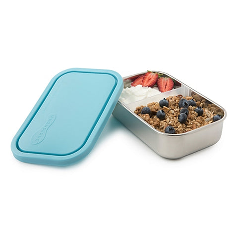 divided rectangle stainless steel container