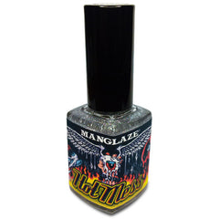 Hot Mess glitter matte top coat nail polish bottle